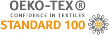 Logo de OEKO-TEX : Confidence in textiles Standard 100