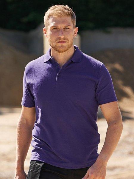 mannequin homme porte polo violet à manches courtes