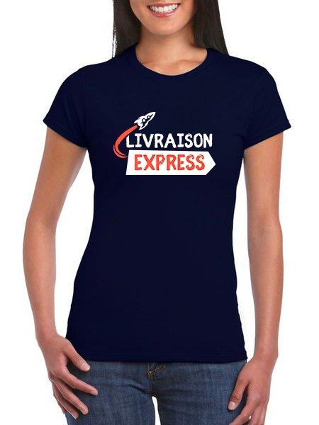 Le t-shirt pour femme à personnaliser en livraison express