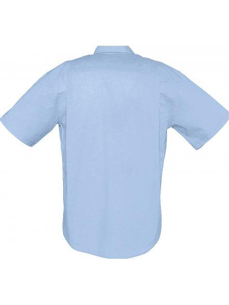 Dos de la chemise à manches courtes Brisbane en coloris Ciel