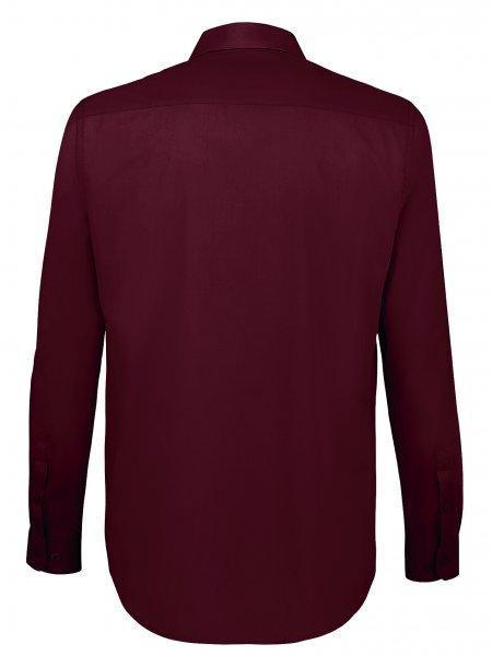 Dos de la chemise personnalisable Baltimore Fit en coloris Bordeaux