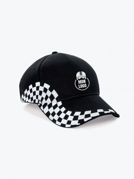 La casquette pilote B159 à personnaliser en coloris Bright Royal Black / White