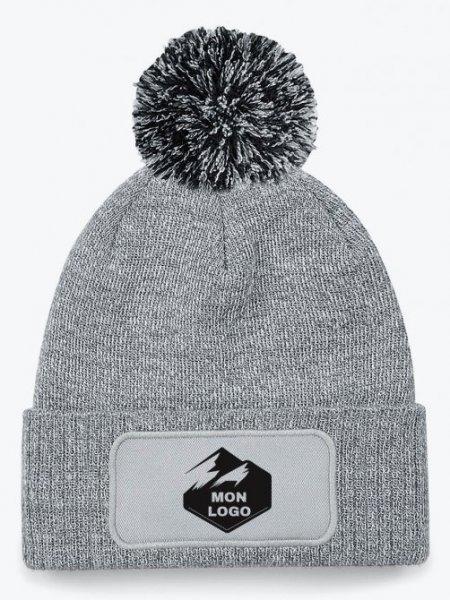 Bonnet Snowstar Patch en coloris Heather grey / Black