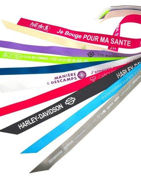 Exemple de personnalisation du bracelet ruban satin