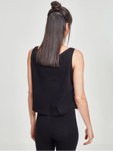 Dos du débardeur oversized pour femme BY051 en coloris Black