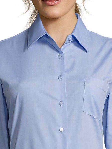 Zoom sur le col renforcé de la chemise Executive en coloris Ciel