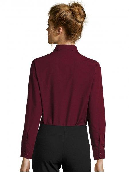 Dos de la chemise personnalisable Executive en coloris Bordeaux