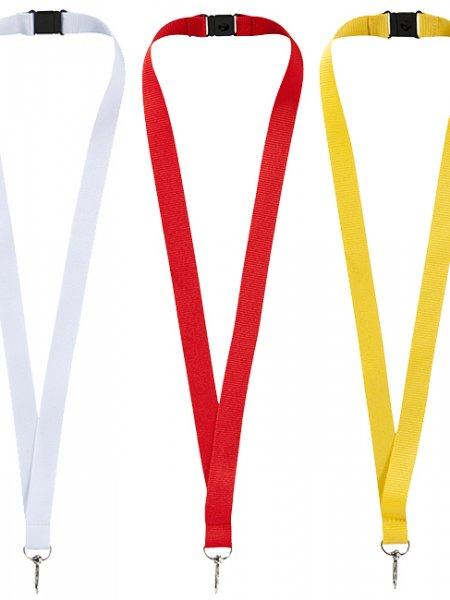 Le tour de cou Lago à personnaliser disponible en coloris Noir, Marine, Blanc, Rouge et Jaune