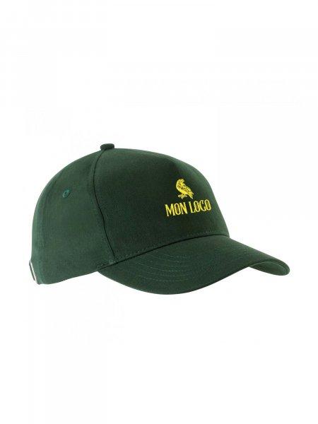 Logo floqué sur la casquette KP051en coloris Forest Green