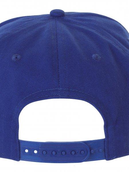Zoom sur la fermeture réglable par bouton pression de la casquette snapback KP129 en coloris Royal Blue / Red