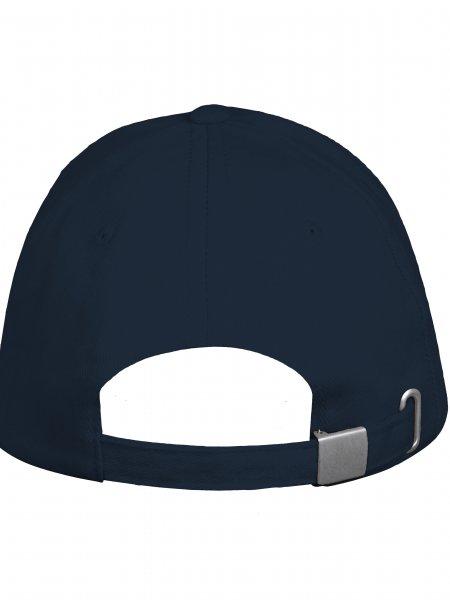 Zoom sur la fermeture arrière réglable par boucle métallique de la casquette KP051 à personnaliser en coloris Navy