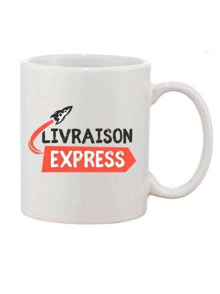 Mug blanc à personnaliser en livraison express 48h ouvrés