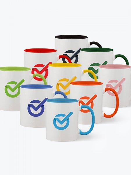Mugs bicolores à personnaliser
