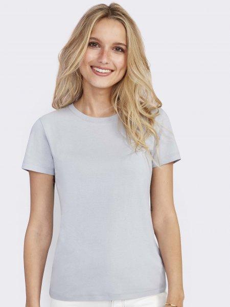 T shirt Regent femme en coloris gris pur sans logo