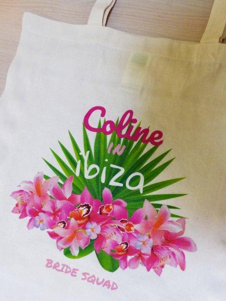 Le tote bag W101 en coloris Natural personnalisé par impression numérique directe