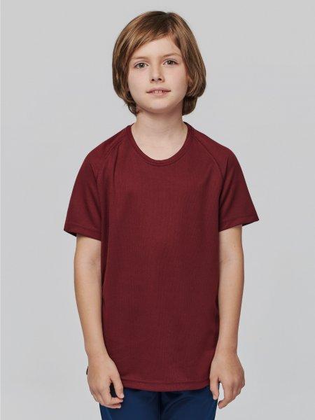 T-shirt de sport pour enfant PA445 à personnaliser en coloris Wine