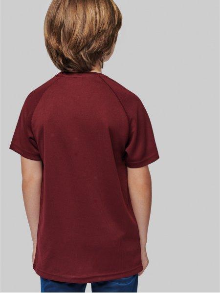 Dos du tee shirt de sport pour enfant PA445 en coloris Wine