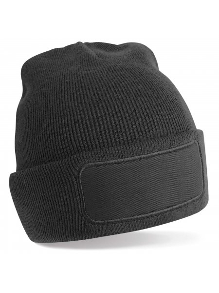 Le bonnet patch B445 à personnaliser en coloris Black