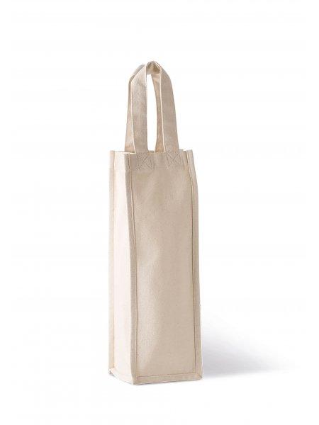 Le sac porte bouteille KI0269 en coton à personnaliser en coloris Natural