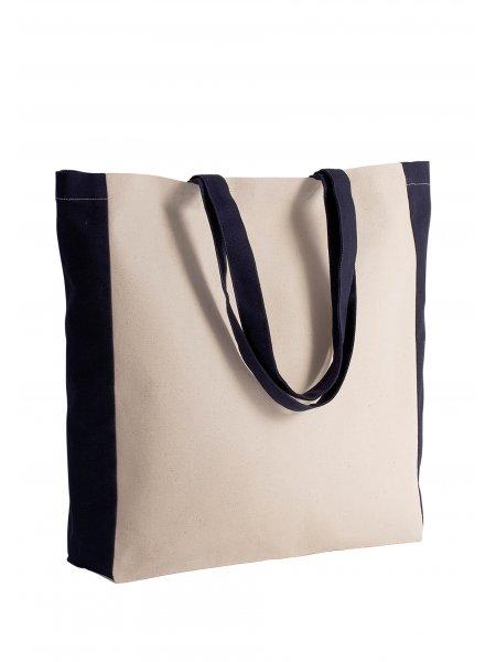 Le sac cabas bicolore KI0275 à personnaliser en coloris Natural / Black