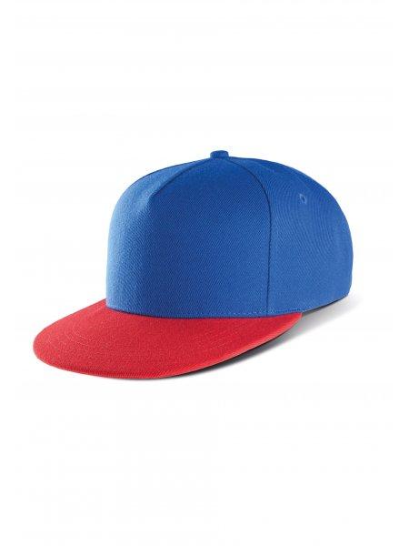 La casquette snapback KP129 à personnaliser en coloris Royal Blue / Red