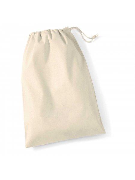 Le sac pochon à cordelettes en coton W115 en coloris Natural à personnaliser