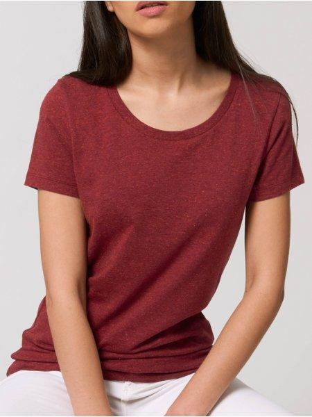 Tee shirt femme Expresser coloris Heather neppy burgundy