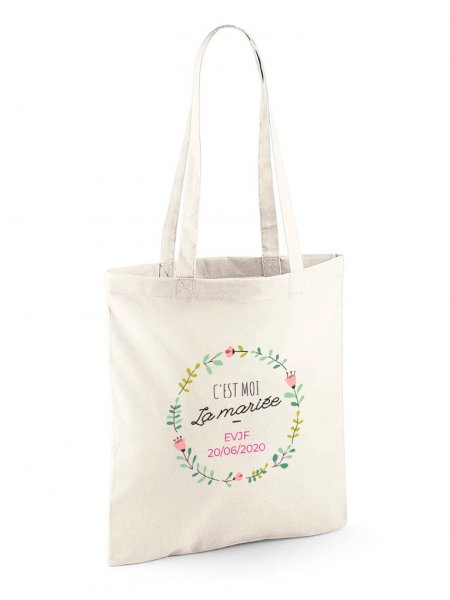 Le tote bag W101 à personnaliser en coloris Natural