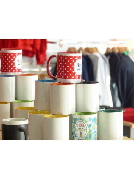 mugs bicolores personnalisés