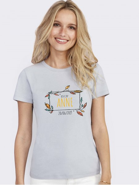 T shirt Regent femme en coloris gris pur avec exemple de logo imprimé