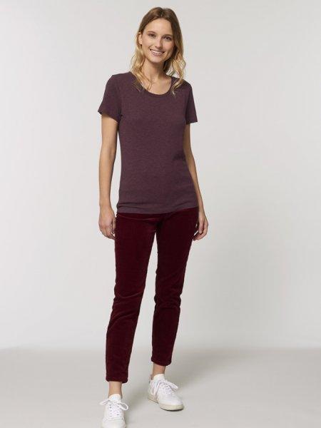 Tee shirt femme Expresser coloris Heather grape red
