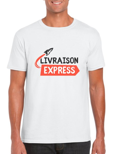 Le t-shirt blanc à personnaliser en livraison express