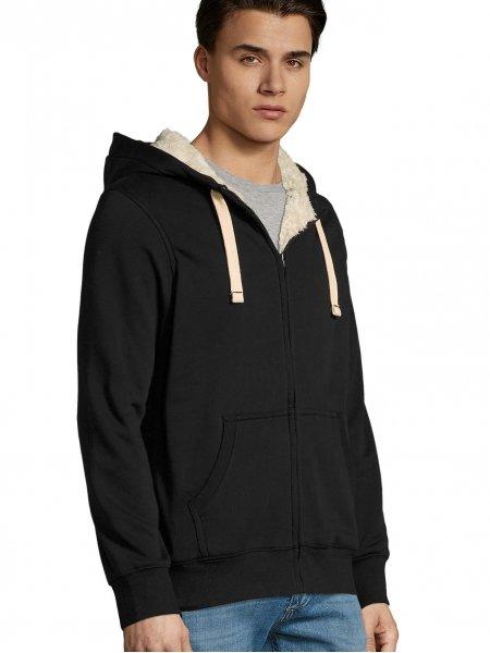 Veste Sherpa en coloris Noir