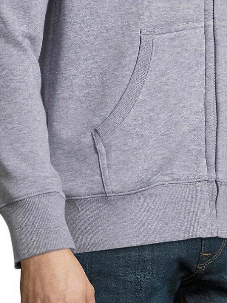 Zoom sur la poche, le poignet et le bas du sweat Stone en coloris gris chiné