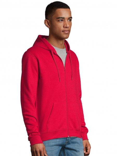 Sweat à capuche zippé Stone en coloris Rouge