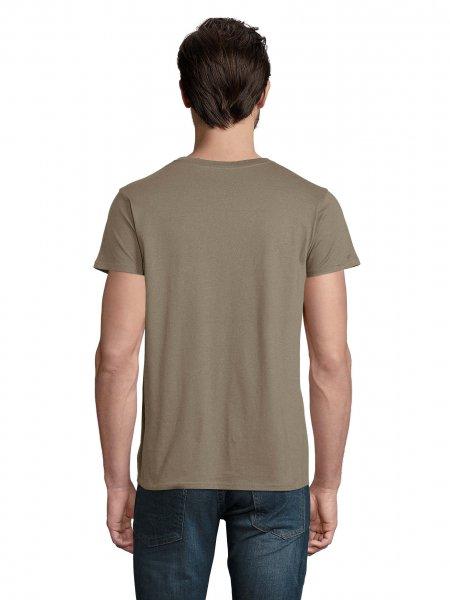 Dos du t-shirt Crusader en coton bio, coloris Khaki