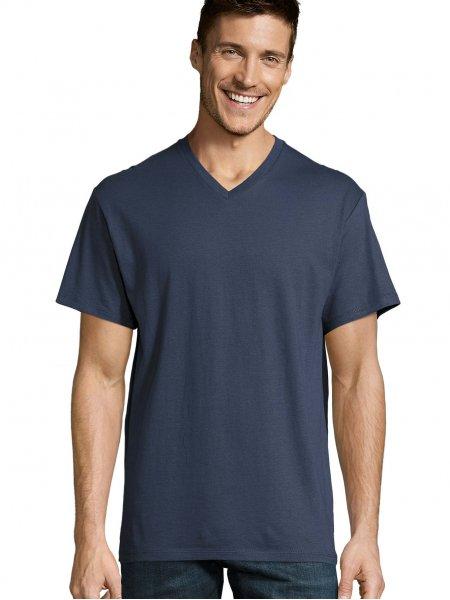 T shirt col V Victory en coloris Denim