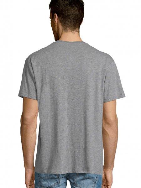 Dos du t shirt col V Victory en coloris Gris chiné