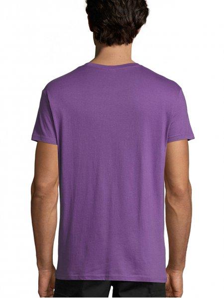 Vue du dos du t-shirt Regent en coloris violet clair