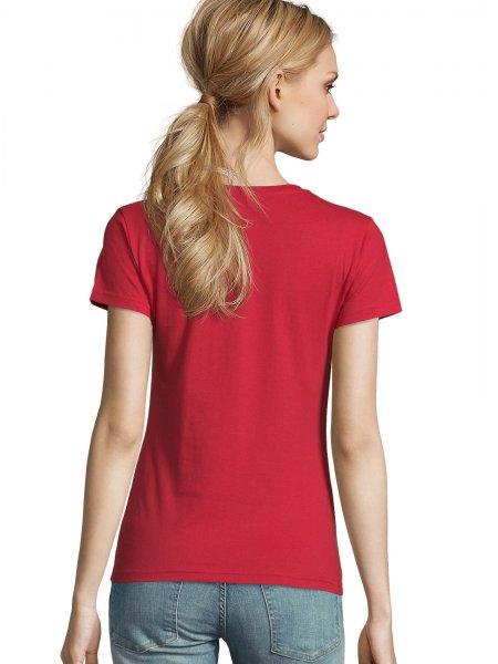 Dos du tee shirt Imperial femme coloris Rouge