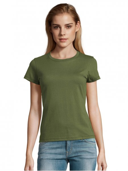 Tee shirt Imperial femme coloris Army