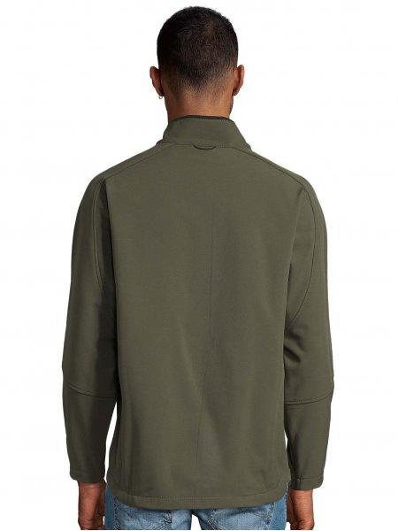 Dos de la veste Softshell Relax en coloris Army