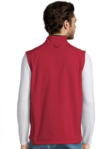 Dos de la veste Softshell sans manches Rallye en coloris Rouge