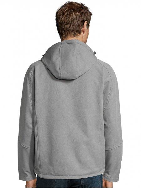 Dos de la veste Softshell homme Replay en coloris Gris chiné