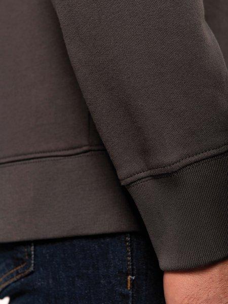 Détails poignet et bas de sweat du WK402 100% coton en coloris Dark Grey
