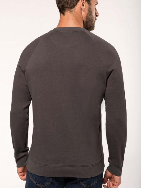 Dos du sweatshirt pro 100% coton WK402 en coloris Dark Grey