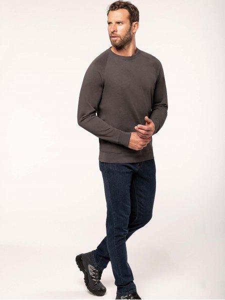 Sweatshirt pro 100% coton WK402 en coloris Dark Grey
