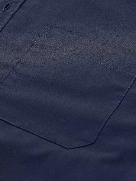Poche avant au niveau du coeur sur la chemise Balitmore Fit en coloris bleu foncé