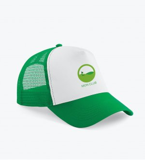 La casquette trucker à filet B640 à personnaliser en coloris Pure Green / White