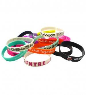 Le bracelet silicone à personnaliser disponible en 16 coloris